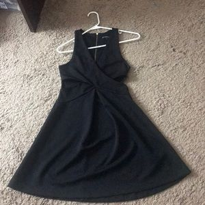 Little black dress with side cutouts